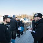 Robin tillsammas med Peter från sportfiskarna diskuterar deras Fångstdatabank