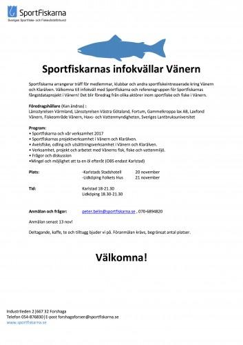 Sportfiskarnas infokvällar Vänern 2017